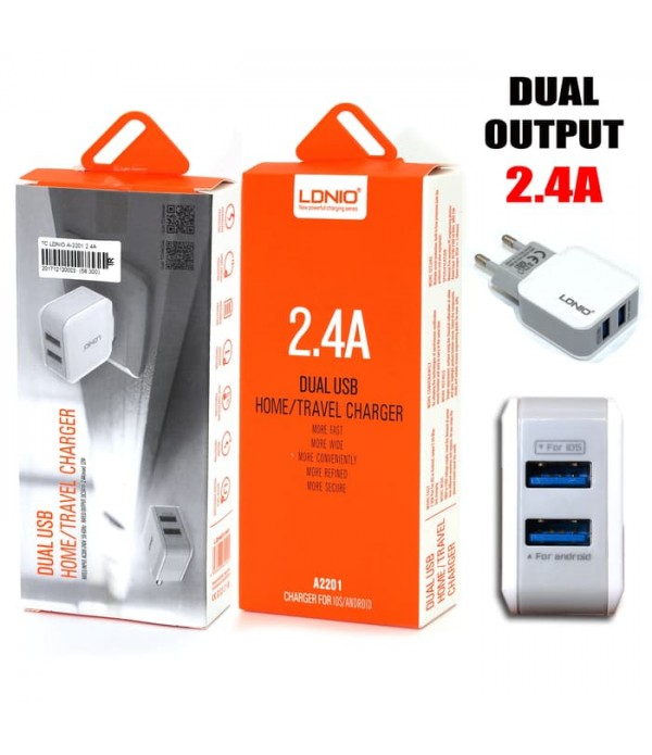 AC-200 LDNIO 2.4A Dual-USB Charger with high quali...