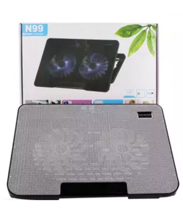 N99 Laptop Cooling Pad With 2 Fans Heat Sinks