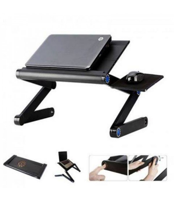 Adjustable Aluminum T8 Laptop Table Stand With Coo...